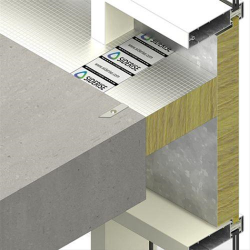 Cavity barriers and fire stops to maintain continuity of fire resistance by sealing the gap between the compartment floors or walls and the external curtain wall both horizontally and vertically. The method of manufacture provides a resilient lateral compressi...