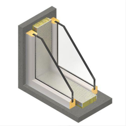 A decorative and robust reveal liner for use in secondary glazing. They provide a practical means of improving the sound insulation performance of secondary glazed windows. Their application to the reveals substantially reduces the reverberant sound field in t...