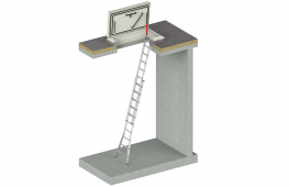 The TopAccess roof access hatch with extension ladder guarantees an insulated, safe means of access to the flat roof. This roof access option is mainly used for inspection and/or maintenance of the roof or equipment installed on the roof. The Staka SafeStepSys...