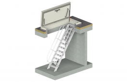 Naturally there are various options for safe roof access. A roof hatch with fixed stairs offers you the most comfortable roof access, ideally suited for regular access to the roof or roof terrace. There are two versions: