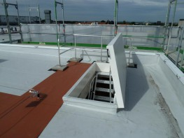 Roof access hatch with fixed stairs - Staka Roof Access Hatches