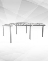 The WeatherSpan® Free-standing canopy provides a strong, cost effective and aesthetically-pleasing solution to providing outside covered areas for learning and recreation.  The aluminium structure with triple-wall polycarbonate provides a low maintenance, s...