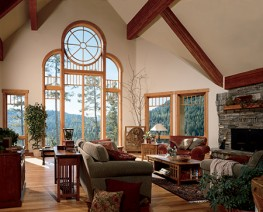 Wooden Special Shaped Windows by Marvin Architectural
