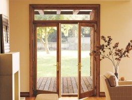 Fibreglass Clad Wood French Doors are the perfect way to welcome friends, family and sunlight into your home. This door provides you strength, durability and is maintenance free. You will be able to enjoy the beauty of the rich wood interior and classically st...