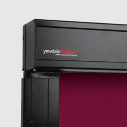 The YewdaleDefiant® C75 electric blackout unit features a Somfy motor as standard. All hardware in black powder-coated aluminium, with moulded black plastic fittings, for face or recess fixing and encloses 53mm grooved aluminium barrel. Heavy duty gear mechan...