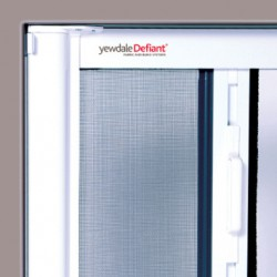 The YewdaleDefiant® F40 horizontally retractable insect screen with advanced slow-rise spring control ensures smooth and quiet operation. White metal universal brackets for secure top fixing with powder-coated extruded aluminium cassette and side guide channe...
