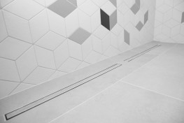 SuperSlim Tile-In Linear Grating 4-Way Fall - On The Level Showers Ltd