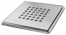 Stock Square Grate Wetroom Former 800 x 800  24mm ( For use with Tiled Floors ) - On The Level Showers Ltd
