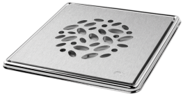 Pebble' Brushed Square Grating and Frame 150mm x 150mm x 5mm  **Solid Stainless Steel image