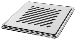 Sloped' Highly Polished Square Grating and Frame 150mm x 150mm x 5mm **Chrome on Brass image