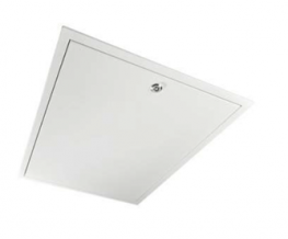 """This high quality """"Made to Measure"""" Fire rated hinge down steel loft hatch has a sleek design for the contemporary modern house. There are no projecting hinges or handles, just simple clean lines. A pole with tri-drive key and hook for reaching loft ladders is..."""