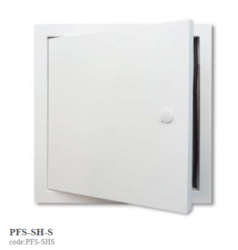 A neat, high quality steel access panel...