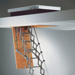 The Zedfold roof access ladder conforms to DIN 4570 with a load bearing capacity of 200 kg and is manufactured from high strength die-cast aluminium alloy components.The access hatch ladder is supplied with two heavy-duty counter-balanced springs incorporate...