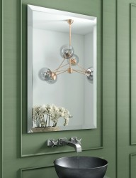 Porterhouse Square Rectangular Mirror With Extra Wide Bevel By Bathroom Origins