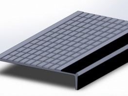 Materials:Nickel Bronze, Gunmetal, Aluminium or Cast Iron.Dimensions:307 x 55 x LApplications:This stair nosing is for heavily used public stairways requiring high performance, extended life stair nosings of attractive appearance. Tapered grooves and...