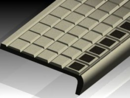 Materials:Nickel Bronze, Gunmetal, Aluminium. Safety black inserts supplied as standard. Yellow, white or other colours available on request.Dimensions:140 x 34 x L.Applications:This stair nosing is for heavily used public stairways requiring high pe...