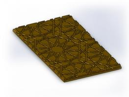 Materials Nickel Bronze, Gunmetal, Aluminium or Aluminium Bronze 2.  Dimensions 280 x 9 x L  Applications This bespoke stair nosing design incorporates hard wearing characteristics with good longevity. An Islamic pattern design is incorporated into the top wea...