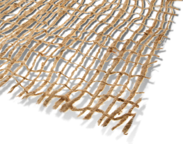 Erosamat Type 1 and 1A are low cost biodegradable erosion control mats made from woven jute. They are used as an economic and environmentally friendly erosion control material for surfaces that will support plant growth.