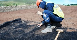 Erosamat Type 3 is a closely packed matrix of polypropylene fibres thermally bonded together to create a tough and flexible, long lasting erosion control mat. 