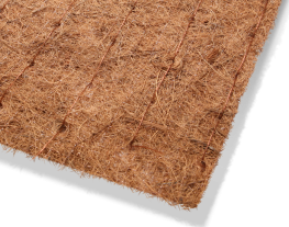Biodegradable matting available in both plain and preseeded variations for immediate surface protection against erosion.