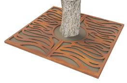 ASF Rivulet Corten Steel Laser Profiled Tree Grille image