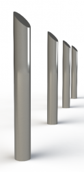 - Manufactured in 275 Carbon Steel from recycled sources. - 45 degree mitred top. - Supplied as standard as 114mm diameter and 1200mm overall length. - Other diameters and lengths available....