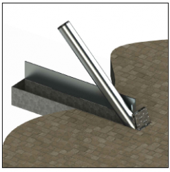 ASF 650 system can be used to house ANY ASF bollard type in ANY materia