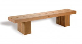 Hardwood Timber Seat Type 2 by Woodscape Ltd