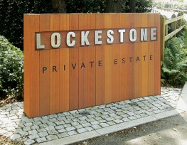 Hardwood Timber Lockestone Style Sign image