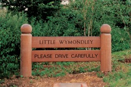 Hardwood Timber Drive Carefully Sign image