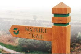 Hardwood Timber Finger Post Sign image