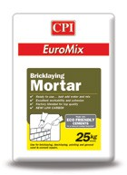 EuroMix Masonry Mortar is a premixed blend of dried sands, cement and additives designed to produce a mortar with excellent workability and durability.