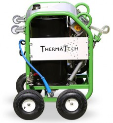 ThermaTech is a modular range of equipment producing superheated water at temperatures up to 150_C, for the purpose of masonry cleaning and paint/coatings removal on heritage and other structures....