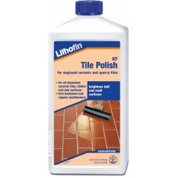 The ideal finish for unglazed ceramic tiles, quarry tiles that have been pre-treated with Lithofin KF Stain-Stop. The glossy film freshens up the colours and makes care easier, especially for tiles with rough finishes. Occasional touch-ups can be done by addin...