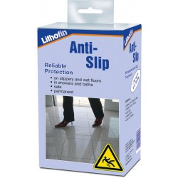 Reliable slip resistance on slippery and wet floors and in shower recesses, etc. Microscopic changes in the surface structure produce significantly increased slip resistance with a long term effect. Suitable for porcelain, glazed ceramics and natural stone suc...