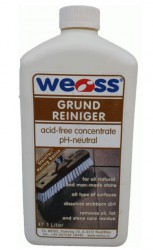 Grundreiniger – May be used for routine cleaning of all types of natural stone and concrete pavements. Removes general traffic stains such as oil, grease, grime and rubber. Ideal for general cleaning or intensive spot cleaning....
