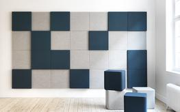 Functional creativity through sound-absorbing squares. Soneo Wall is a simple and yet stylish system of wall panels based on square, sound-absorbing and coated panels. The Soneo Wall panel is so simple in its style that it is the fabric that sets the tone of t...