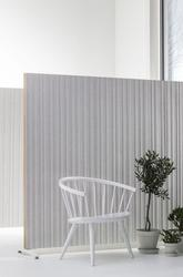 DoReMi is a screen suitable for offices and public areas designed by Nina Jobs. DoReMi can be used as a free-standing solitaire or connected together to screen off a larger area. The frame is made from solid timber. The exposed edge is made from natural birch ...