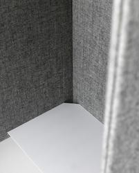 Domo sound-absorbent wall booths are ideal in environments where there is an occasional need for a quiet, isolated area. Combine the booth with open seating in an activity-based office to enable both open and private communication.  The booth is available for ...