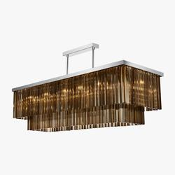 Large Two Tier Rectangular Chandelier                                                              CL452E image