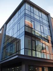 The MC Wall is a curtain wall system designed to create a dramatic but practical facade, with the option of sloped and facet-shaped glazing whilst allowing maximum light into small or large multi-storey buildings. Rapid on-site installation and concealed trans...