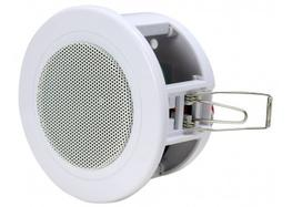 OMEGA SPOT - 95mm Spotlight / Downlight loudspeaker  100v line.  Quick and easy installation in false ceilings of varying thickness thanks to the adaptable spring hooks and the standard size of the mounting hole.  The Omega Spot is the smallest in the Omega ra...