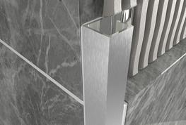 Cube Profile   Brushed Stainless Steel image
