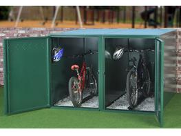Compact and robust, The Single Bike Locker is an excellent way to store your bike if you are short on space. The locker is accessed from the end ensuring the unit width is kept to a minimum, making it perfect for installing down the side of a house or flat.  F...