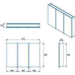 Kennett Triple Door Tri View Cabinet By Croydex Ltd