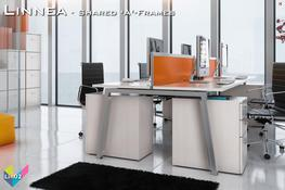 Linnea Bench Desking is available with desk tops in two depths, 600mm and 800mm – Linnea Bench is very competitively priced. Linnea Bench is available in a choice of eight MFC finishes and three veneer finishes, with frames in  Silver, Black or White.  Singl...