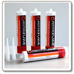 A one part intumescent acrylic mastic for sealing gaps around fire doors, window frames and for sealing joints, voids and irregular holes in fire rated structures. The sealant forms a char, preventing the passage of fire and smoke, when exposed to the heat of ...