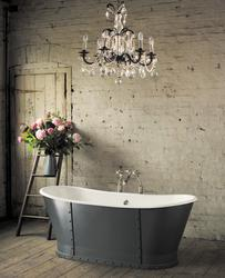 Astonian Brunel 1700x700mm no-taphole cast iron roll top bath white image