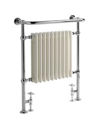 AM12 965Hx673W hot water floor and wall mounted radiator/towel rail chrome image