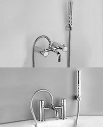 Zyam bath/shower mixer for wall or deck mounting and flexible shower kit image